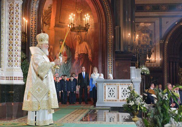 Patriarcha moskiewski i całej Rusi Cyryl w czasie liturgii bożonarodzeniowej w Soborze Chrystusa Zbawiciela w Moskwie - Sputnik Polska