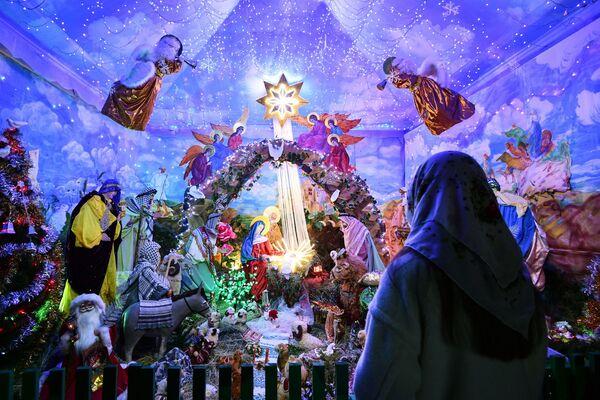 Świętowanie Bożego Narodzenia w rosyjskich miastach - Sputnik Polska