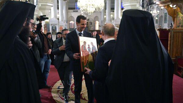 Wizyta prezydenta Rosji Władimira Putina w Damaszku. - Sputnik Polska