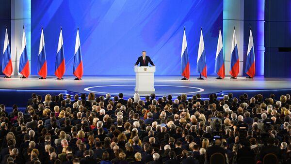 Orędzie Władimira Putina do Zgromadzenia Federalnego - Sputnik Polska