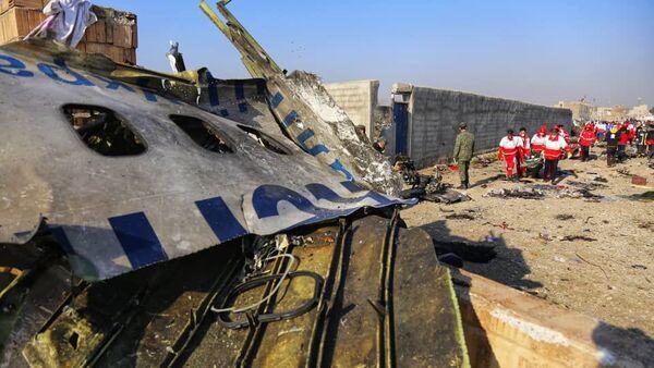 Na miejscu katastrofy samolotu pasażerskiego Ukrainy Boeinga 737-800 w Iranie - Sputnik Polska