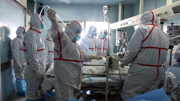 Szpital w mieście Wuhan, Chiny - Sputnik Polska
