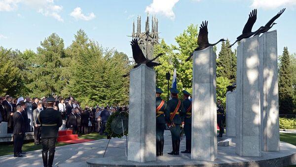 Pomnik rosyjskich i radzieckich żołnierzy, walczących na terenie Słowenii w I i II wojnie światowej - Sputnik Polska