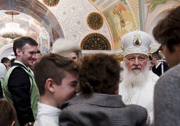 Obchody Chrztu Pańskiego w Moskwie - Sputnik Polska