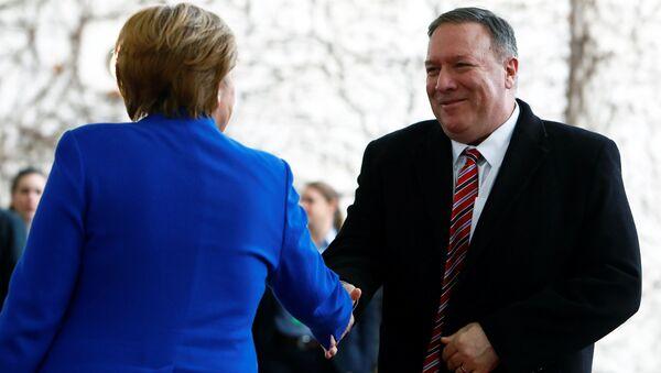 Angela Merkel i Mike Pompeo, 2020.   - Sputnik Polska