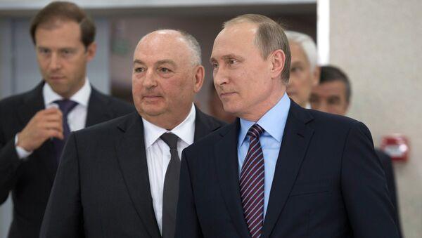 Władimir Putin i Mosze Kantor - Sputnik Polska