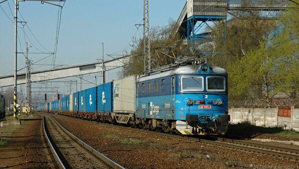 Pociąg z kontenerami firmy TransContainer - Sputnik Polska