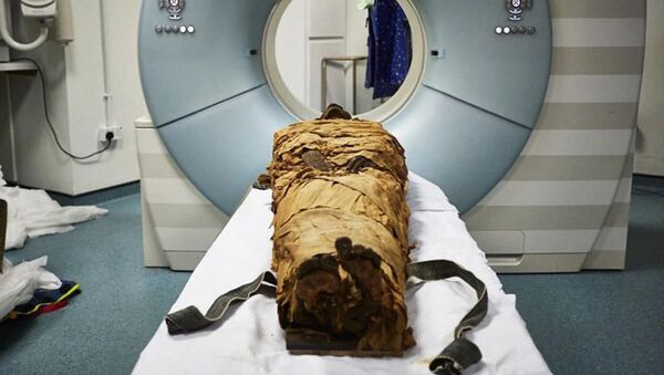 Tomografia komputerowa mumii kapłana Nesyamuna - Sputnik Polska