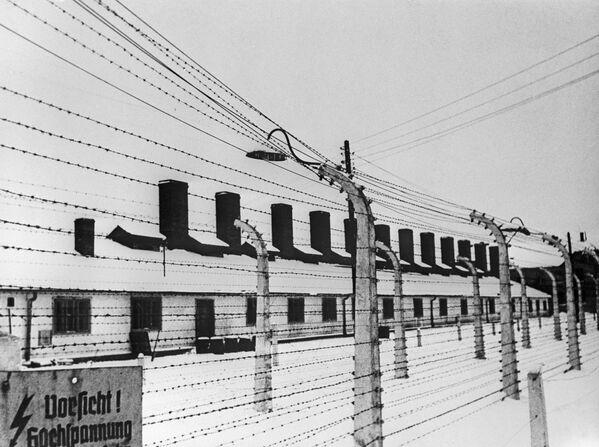 Obóz Auschwitz-Birkenau w 1945 roku - Sputnik Polska
