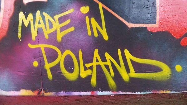 Граффити на стене Made in Poland  - Sputnik Polska