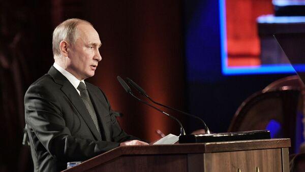"""Prezydent Rosji Władimir Putin przemawia na Międzynarodowym Forum """"Zachowanie pamięci o Holokauście, zwalczanie antysemityzmu"""" w Jerozolimie - Sputnik Polska"""