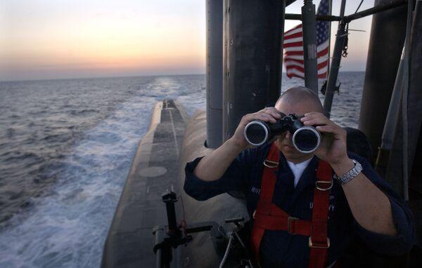 Oficer na pokładzie okrętu podwodnego USS Florida  - Sputnik Polska