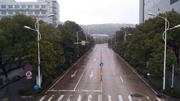 Opustoszały Wuhan, Chiny - Sputnik Polska