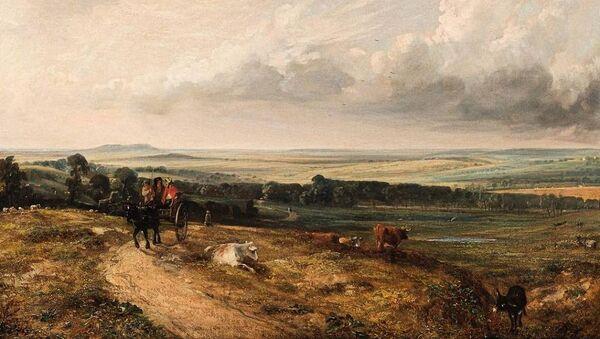 "Obraz Johna Constable'a ""Widok na Hampstead Heath od strony Harrow"", 1824. - Sputnik Polska"