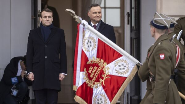 Wizyta Emmanuela Macrona w Warszawie - Sputnik Polska