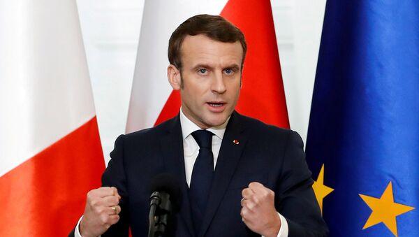 Prezydent Francji Emmanuel Macron z wizytą w Warszawie. - Sputnik Polska