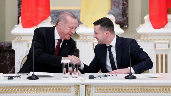 Spotkanie prezydentów Turcji i Ukrainy - Sputnik Polska