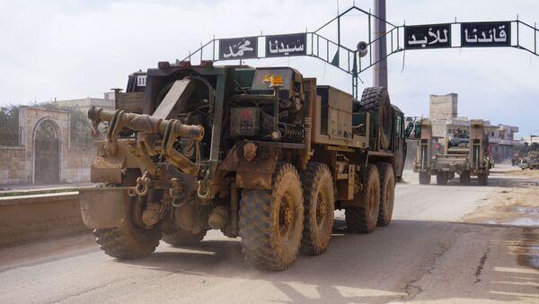 Turecki konwój w syryjskiej prowincji Idlib - Sputnik Polska