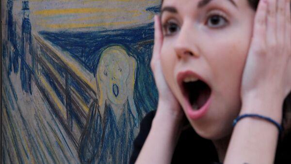 """Obraz """"Krzyk"""" Edvarda Muncha w Galerii Tretiakowskiej - Sputnik Polska"""