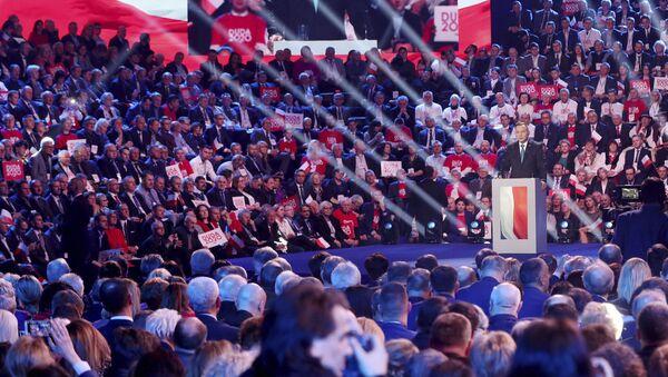 Inauguracja kampanii wyborczej Andrzeja Dudy w Warszawie - Sputnik Polska