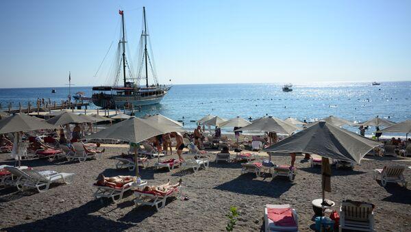 Plaża jednego z hoteli w Antalyi - Sputnik Polska