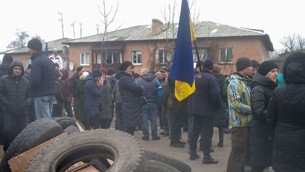 Ukraińcy protestują przeciwko przyjęciu na kwarantannę rodaków ewakuowanych z Wuhan - Sputnik Polska