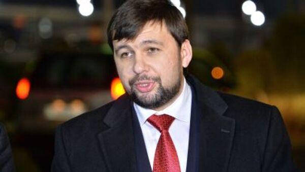 Oficjalny przedstawiciel DRL w grupie kontaktowej Denis Puszylin - Sputnik Polska