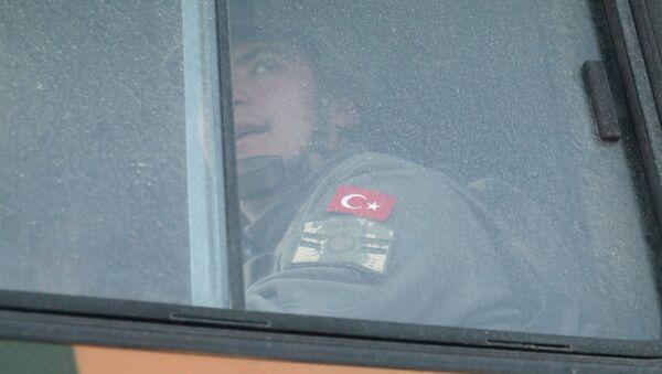 Turecki żołnierz w syryjskiej prowincji Idlib. - Sputnik Polska