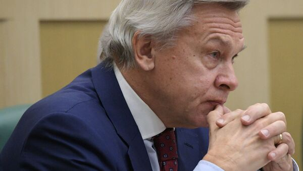 Rosyjski senator Aleksiej Puszkow - Sputnik Polska