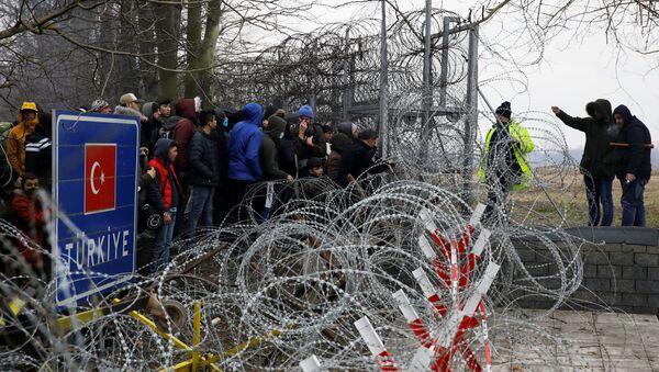 Sytuacja na granicy Turcji i Grecji  - Sputnik Polska
