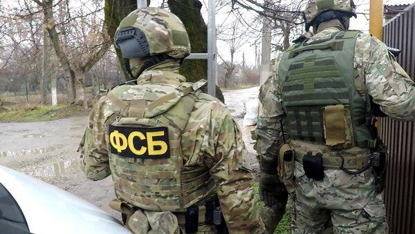 Fukncjonariusze FSB podczas zatrzymania przestępców - Sputnik Polska