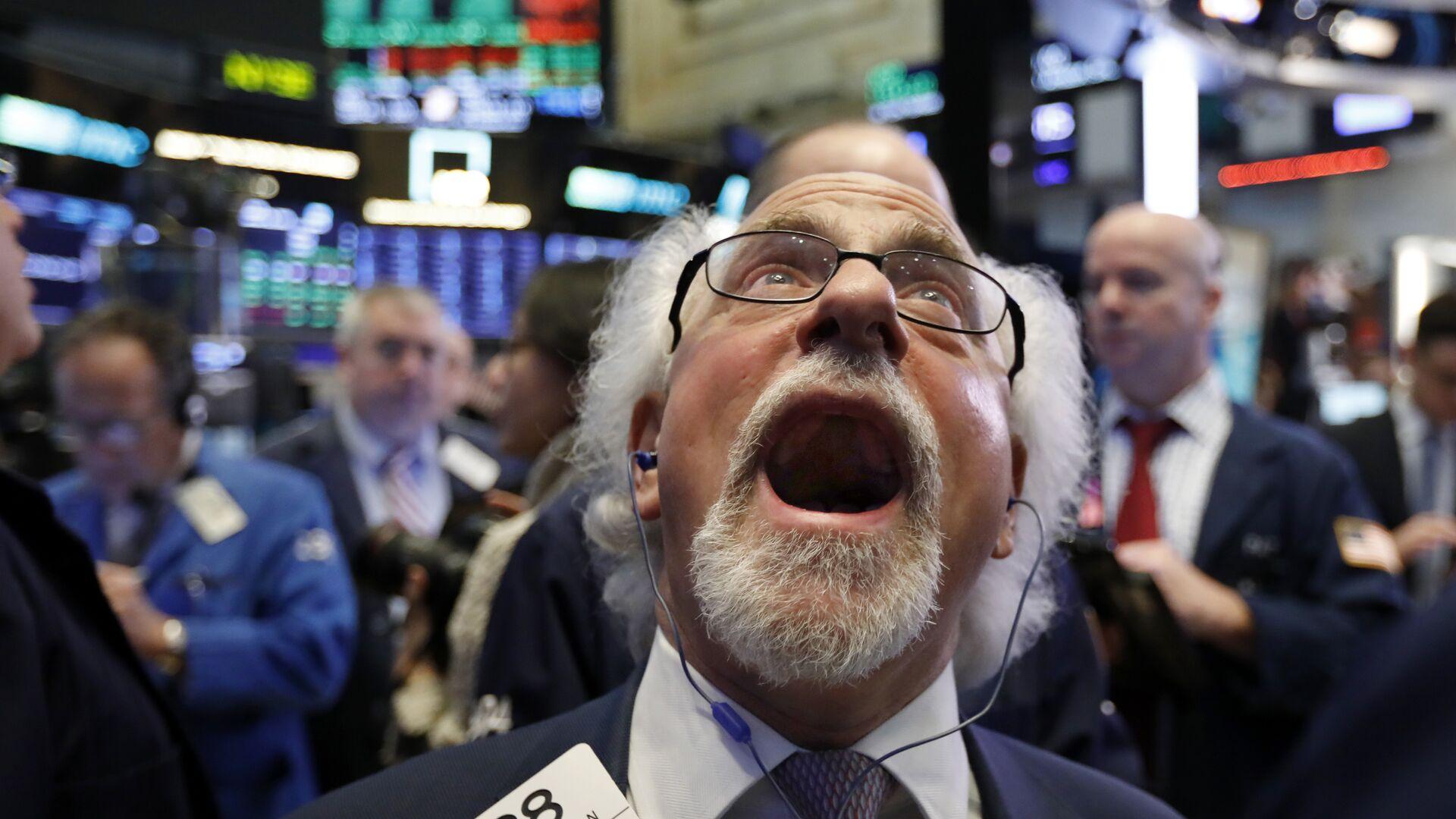 Handlowiec Peter Tuchman na parkiecie nowojorskiej giełdy papierów wartościowych, 28 grudnia 2018 - Sputnik Polska, 1920, 30.09.2021