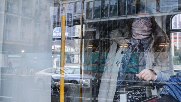 Kobieta w autobusie - Sputnik Polska