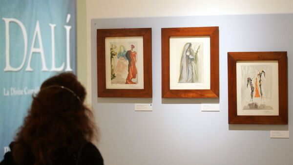 Wystawa obrazów Salvadora Dali z serii Boska Komedia. - Sputnik Polska