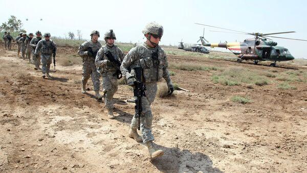 Amerykańscy żołnierze w bazie At-Tadżi w Iraku - Sputnik Polska