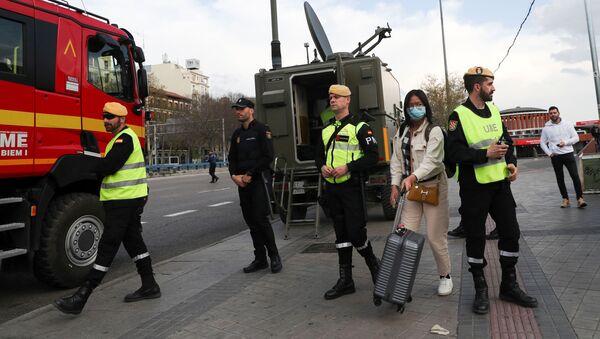 Na ulicach Madrytu  - Sputnik Polska