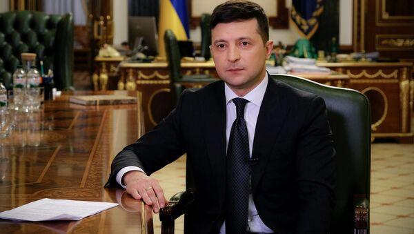 Orędzie prezydenta Ukrainy Wołodymyra Zełenskiego w związku z wprowadzeniem kwarantanny - Sputnik Polska