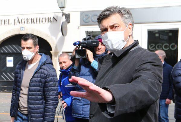 Premier Chorwacji Andrej Plenković - Sputnik Polska