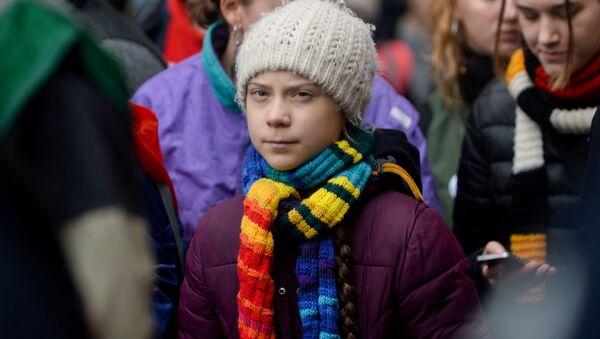 Szwedzka aktywistka Greta Thunberg w czasie podróży po Europie - Sputnik Polska