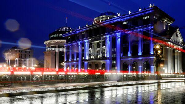 MSZ Macedonii Północnej z iluminacją  - Sputnik Polska