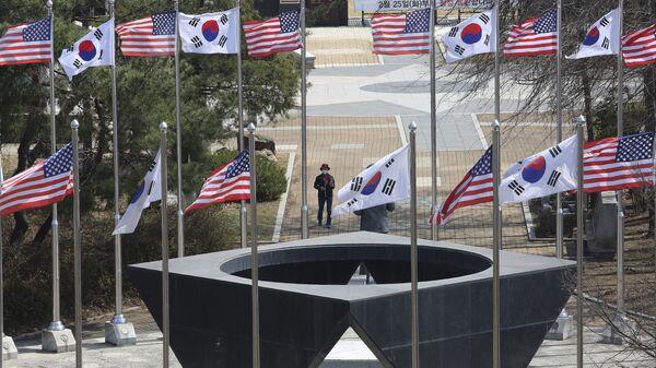 Pomnik Sił Zbrojnych USA, które uczestniczyły w wojnie koreańskiej w Paju - Sputnik Polska
