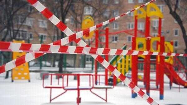 Zamknięty plac zabaw w Moskwie - Sputnik Polska
