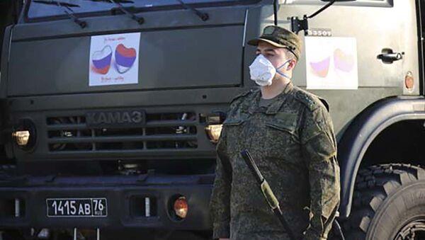 Rosyjscy wojskowi w Serbii - Sputnik Polska