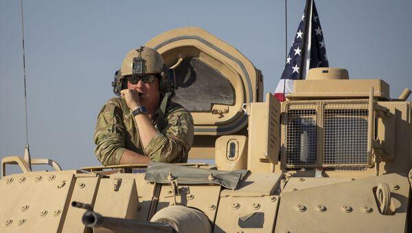 Amerykańscy wojskowi w Syrii. Zdjęcie archiwalne - Sputnik Polska