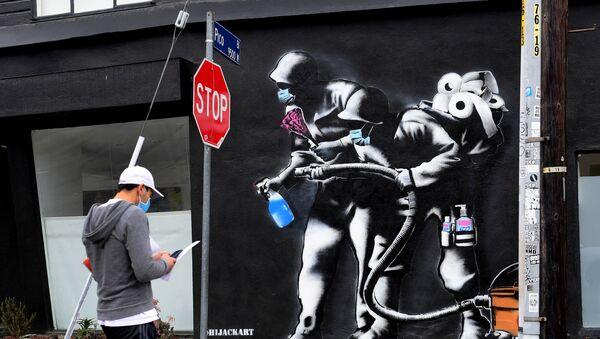 Mural w Los Angeles - Sputnik Polska