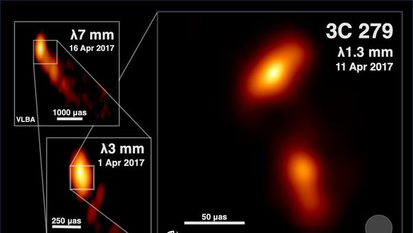Najbardziej szczegółowe zdjęcie dżetu - strumienia plazmy wyrzuconego przez supermasywną czarną dziurę - Sputnik Polska