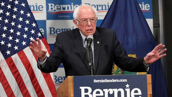 Kandydat na prezydenta USA z ramienia Partii Demokratycznej Bernie Sanders - Sputnik Polska