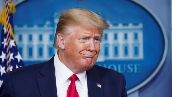 Prezydent USA Donald Trump przemawia w Białym Domu - Sputnik Polska
