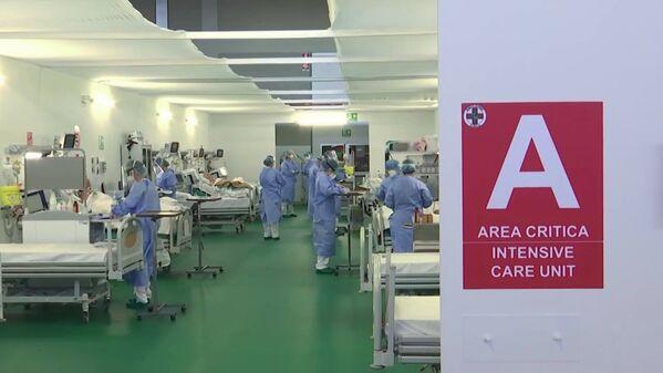 Rosyjscy specjaliści w szpitalu w Bergamo - Sputnik Polska