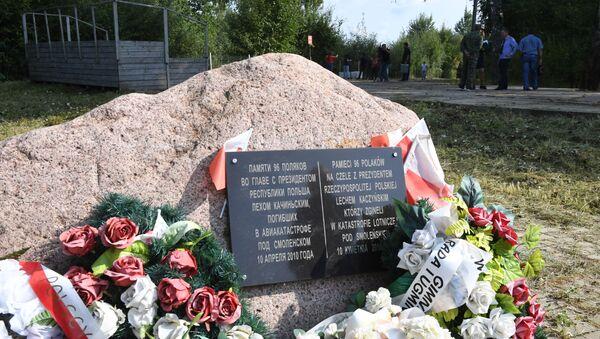 Obelisk na miejscu katastrofy smoleńskiej - Sputnik Polska